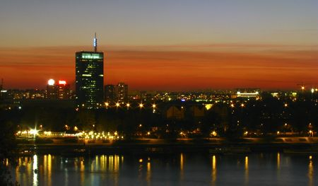 overnight: city skyline in the night