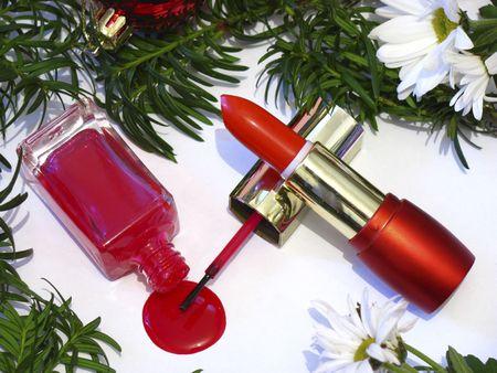 Lipstick and spilled nailpolish photo