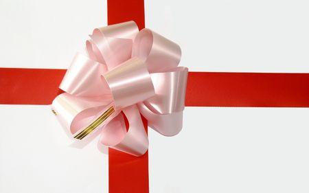pink ribbon on gift box Stock Photo - 3996262