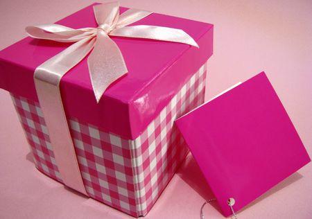 pink gift box photo