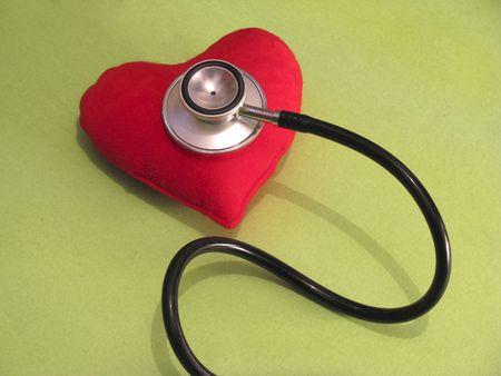 stethoscope on hear shape Stock Photo - 4272365