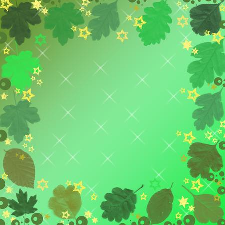 lamina: large group of green lamina Illustration