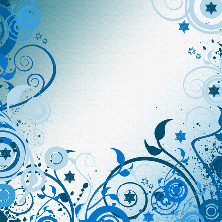 backdrop: blue art