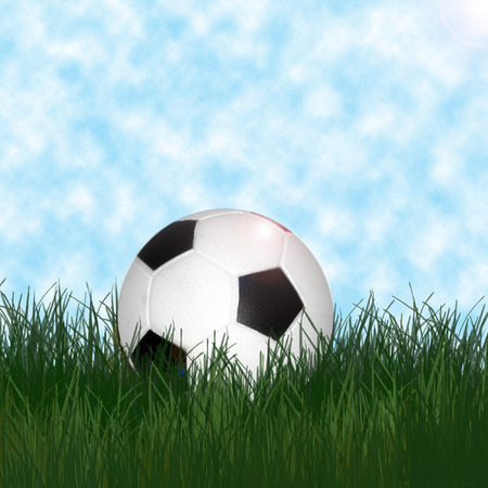 olympic stadium: ball on green grass