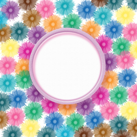 lamina: colorful flowers with sample for text