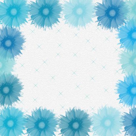 lamina: blue flowers Illustration