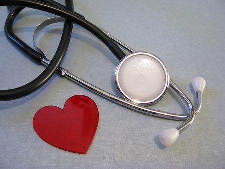 stethoscope and heart shape Stock Photo - 4658767