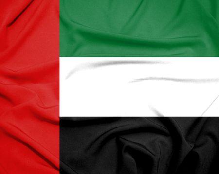 united arab emirate: united arab emirate flag Stock Photo