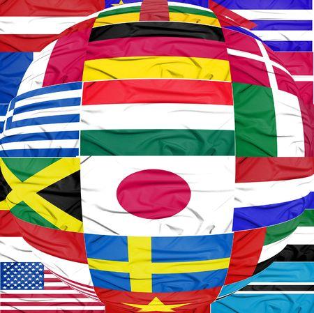 ball shape made of flags photo
