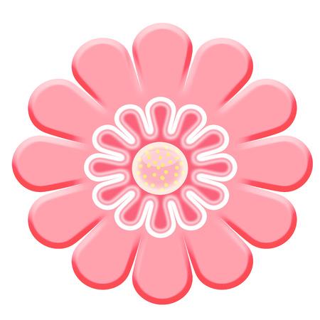 2d pink flower Vector