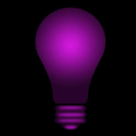 violet shining lightbulb Vector