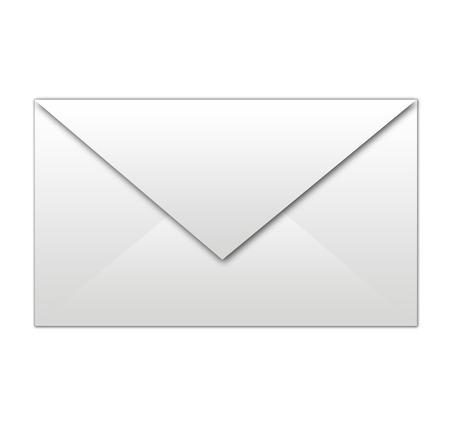 icona busta: busta bianca isolata Vettoriali