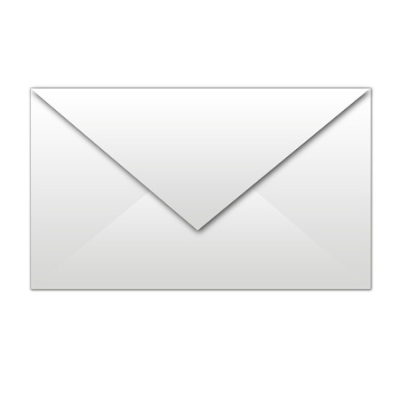 letter envelope: white envelope isolated Illustration