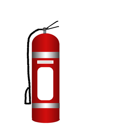 disaster prevention: stop the fire Illustration