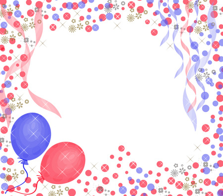 bash: baloons on colorful background