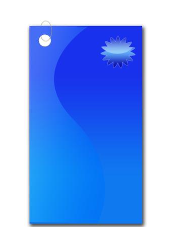 thumbtack: blue baner