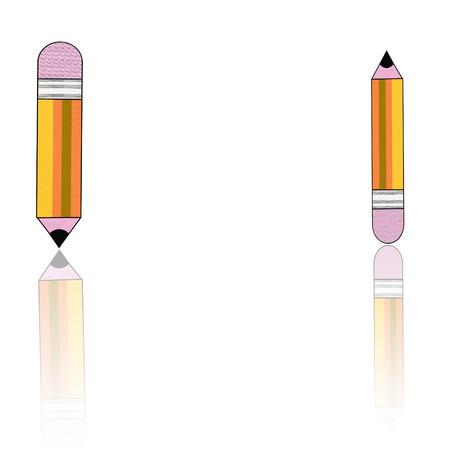 two yellow pencils Vector
