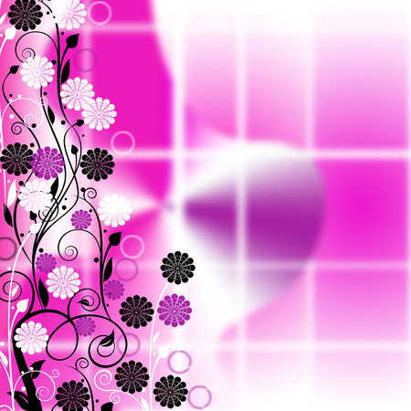 interesting: Interesting pink floral background  Illustration