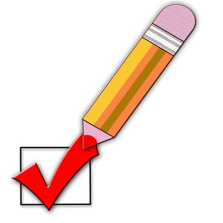 classroom supplies: l�piz amarillo Vectores