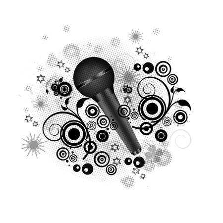 Music concept- Beautiful microphone Vector