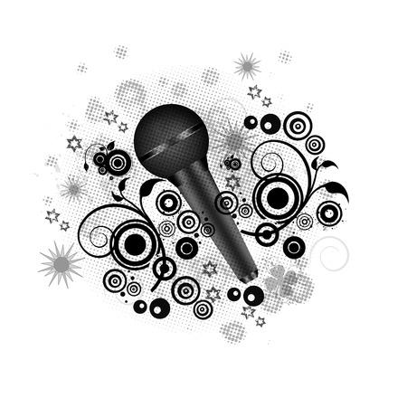 mc: Music concept- Beautiful microphone