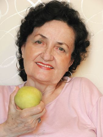 seniority: lady with apple