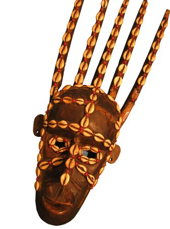 african mask isolated on white Stock Photo - 5546763
