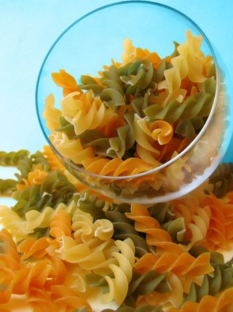 colored pasta photo