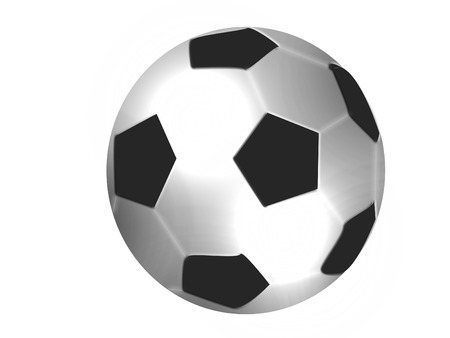 football isolated on white Vector