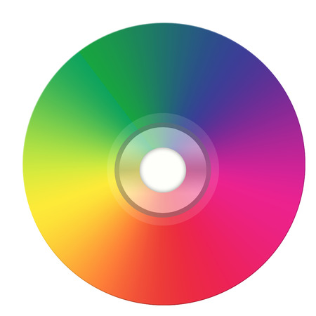 compact disk: illustration of dvd