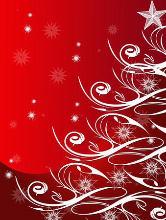 beautiful snow tree Stock Vector - 5926834
