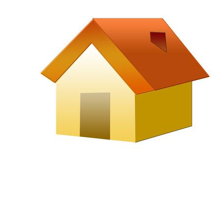 installateur:  Little house   Stock Illustratie