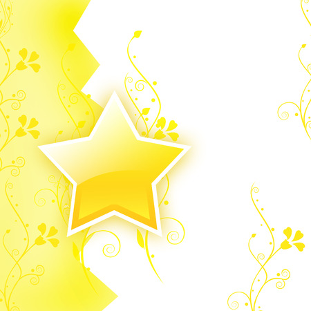 superstar: Yellow background with a star