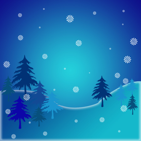 Beautiful snowy background   Vector