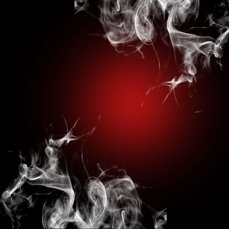 aura: Colored smoke in black background Stock Photo