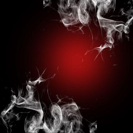 Gekleurde rook op zwarte achtergrond