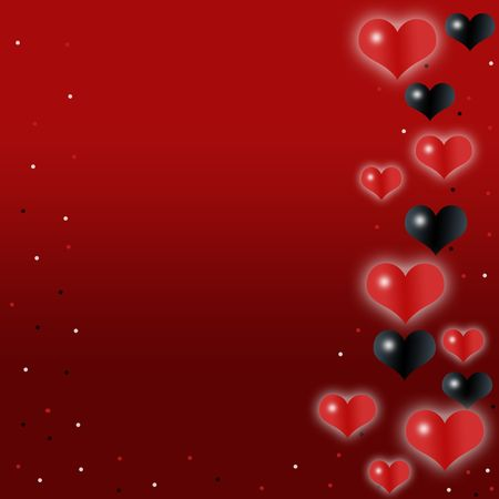 Love,romantic,red background with cute hearts Stock Photo - 6257565