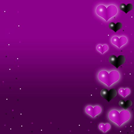 Love,romantic,purple background with cute hearts photo