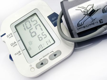 Blood pressure device-new technology Stock Photo - 6257461