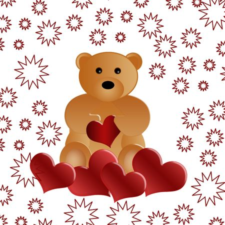valentines day - Bear with heart Stock Photo - 6307940