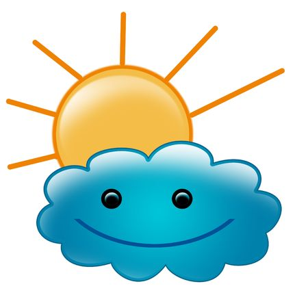 sun and cloud illustration illustration