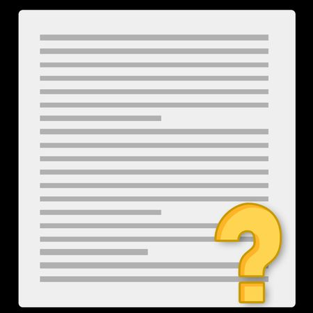educational material:  notebook paper and questionnaire