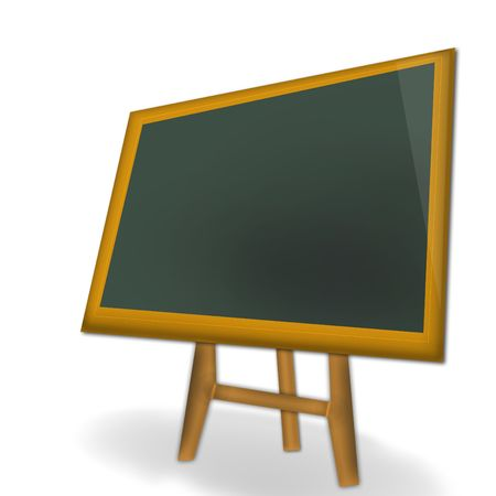 scratchy: blackboard isolated on black