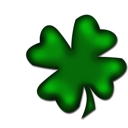 fourleaved: Lucky clover isolated on white background Stock Photo