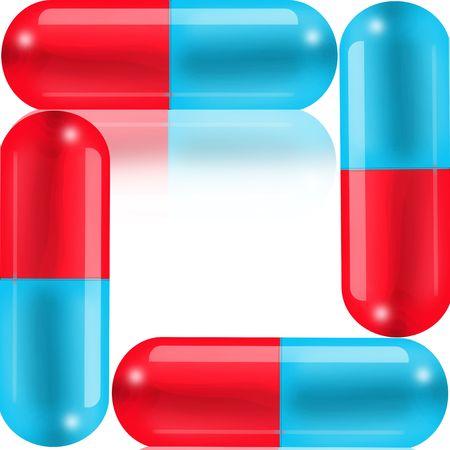 Four pills Stock Photo - 6595293