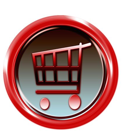 Red button with shopping car Stock Photo - 6595317