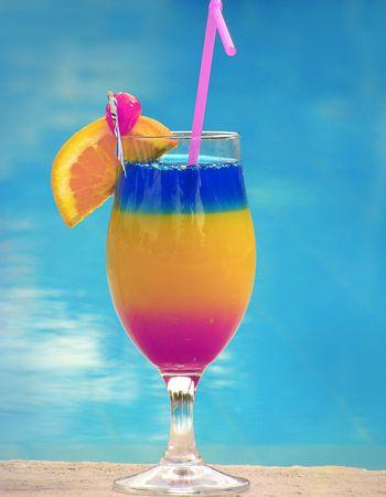 margarita cóctel: uno decorado cóctel hermoso lleno de color Foto de archivo