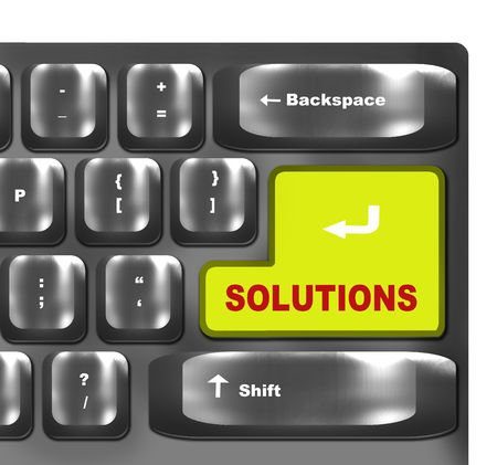 computer keyboard with solutions  key photo