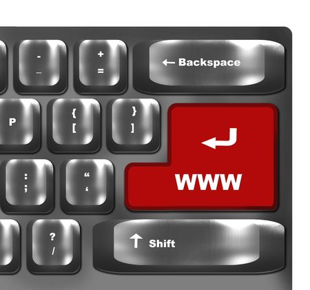 computer keyboard with www internet sign key photo