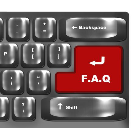 computer keyboard with f.a.q  key Stock Photo - 6679046